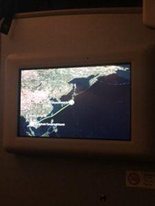 フライトサマリー。マップ上に飛行ルートが出テイル