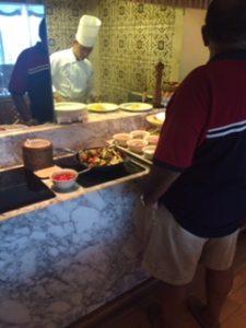 グランドハイアットエラワンのクラブラウンジで朝食