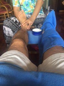 タイのバンコクにある痛い足マッサージ店