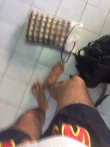 タイのバンコクのムエタイジムにて