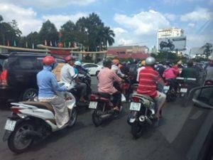 バイクが多いベトナムホーチミン市