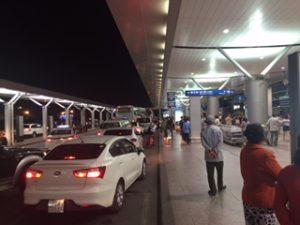 ベトナムのホーチミンシティ空港に到着