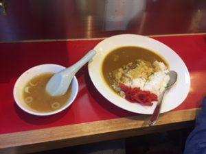 横浜の太源のカレーライスとスープ