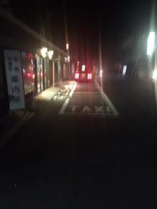 強羅駅でタクシーが待機