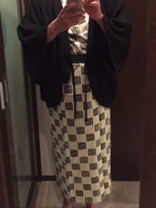 ハイアットリージェンシー箱根での館内の浴衣