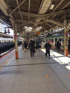 横浜駅上野東京ライン(東海道線)ホーム