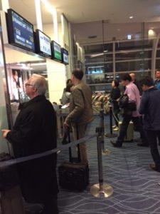 羽田空港の搭乗口