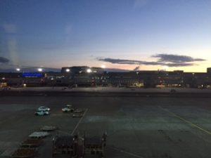 朝焼けのフランクフルト空港