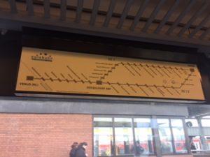 ドュッセルドルフ近郊の路線図