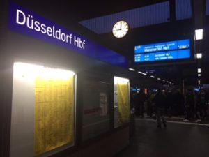 ドュッセルドルフ駅に到着
