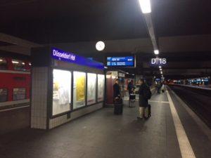 朝のドュッセルドルフ中央駅ホーム