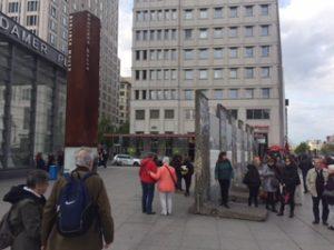 ポツダム広場のベリリンの壁