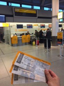 ルフトハンザ航空の航空券が発券された