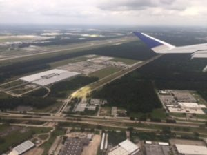 ヒューストン上空