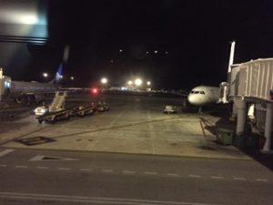 ユナイテッド航空でカンクン到着