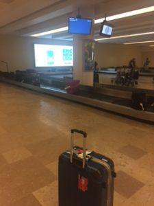 アエロメヒコ航空で荷物が届いた