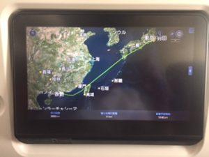 羽田→香港飛行ルート
