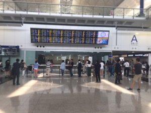 香港空港到着ロビーA