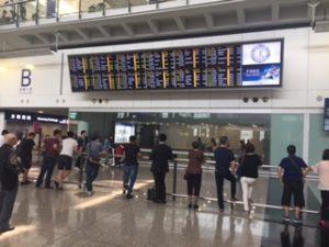 香港空港到着ロビーB