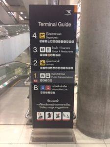 スワンナプーム空港の案内サイン