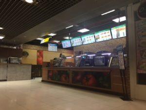バンコクの空港地下一階にあるSUBWAY