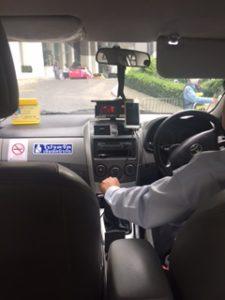 バンコクのタクシー内