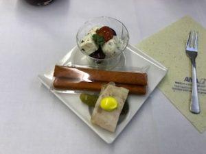 ANAの機内食のスタートのアミューズ