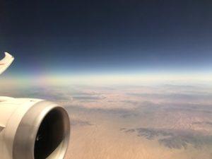 北米大陸上空から砂漠を