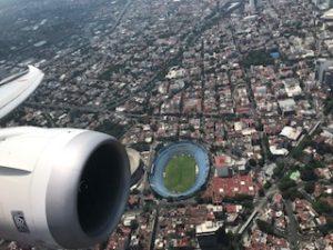 上空からのメキシコのスタジアム
