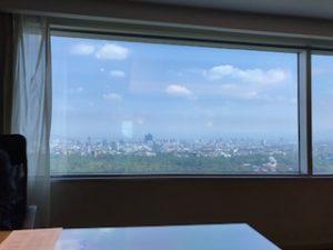 メキシコシティの良い眺めが見れる40階のクラブラウンジ