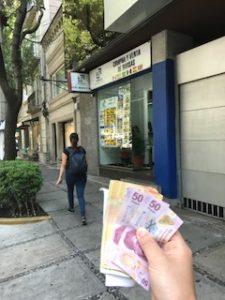 メキシコシティの両替所