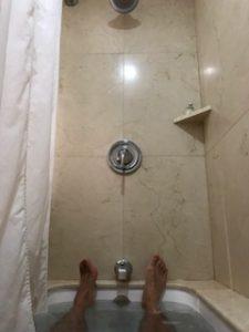 風呂に浸かる自分