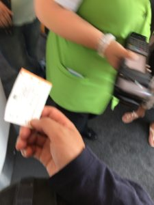ドイツ鉄道の車両内でのチケット確認
