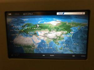ユーラシア大陸横断フライトマップ