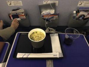 ANAの機内食のタンメン