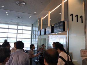 羽田空港国際線の111番搭乗口