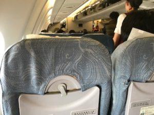 AIRBUS A330-200機内の写真