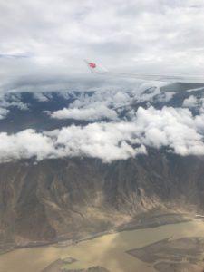 チベット上空