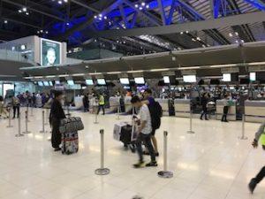 早めにスワンナプーム空港到着