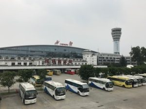 成都の空港看板