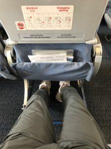 中国国際航空A320のEXIT LOW