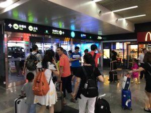 大連空港の出口