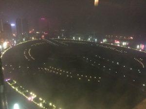 夜の星海広場