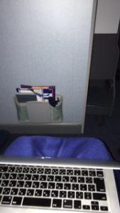 ANAの機内はプレミアムエコノミー席