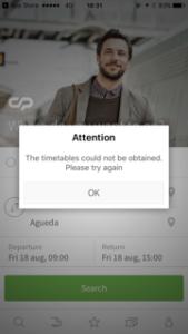 ポルトガルの電車のアプリ