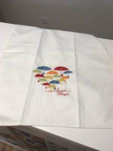 傘の刺繍のお土産