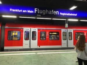 フランクフルト空港駅のホーム