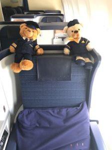 搭乗時のビジネスクラス
