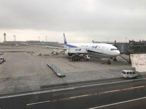 羽田空港に到着したANAの機体
