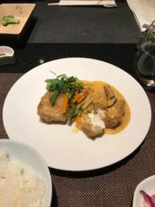 限定メニューの魚料理